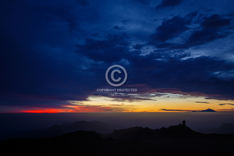 Sunset from the Pico de las Nieves