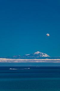Snow-capped Teide as seen from Arguineguín