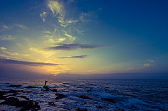 Agaete sunset fisherman