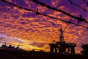 Oil rig in the Puerto de la Luz, Las Palmas de Gran Canaria