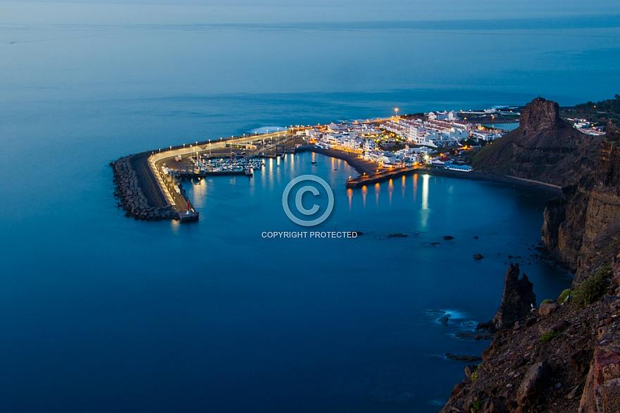 Puerto de las Nieves at dusk