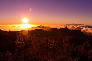 Sunset at Pico de las Nieves