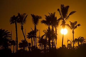 Anfi Beach at Sunset