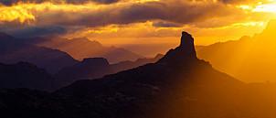 Roque Bentayga at sunset