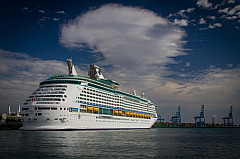 Cruise ship in the harbour of Las Palmas