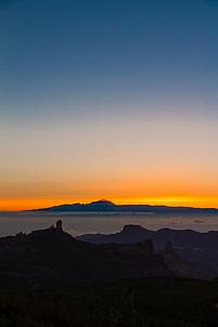 Sunset at the Pico de las Nieves