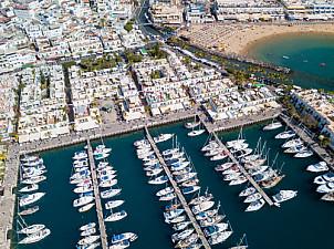 Puerto de Mogán aerial