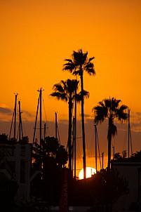 Sunset in Puerto de Mogán