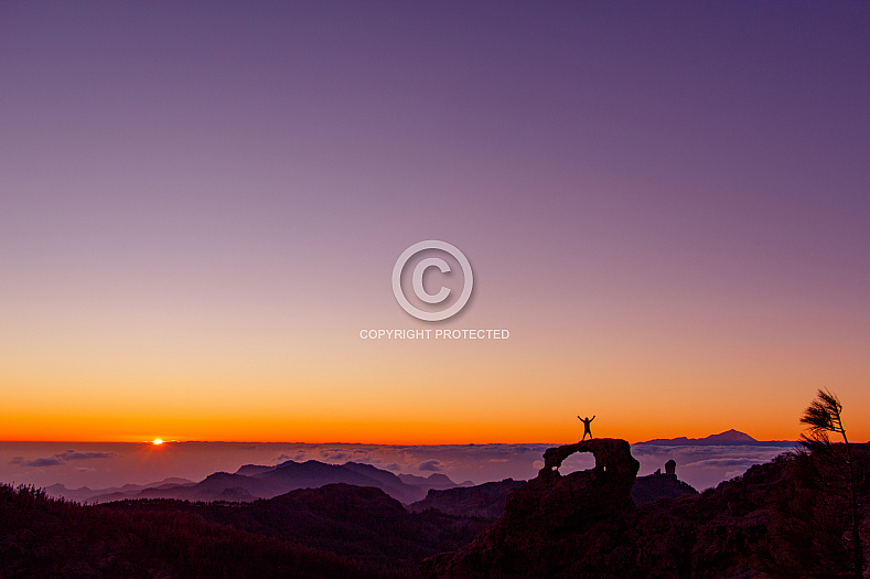 Sunset at Pico de las Nieves