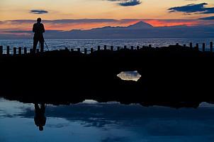 Photographer enjoying the sunset