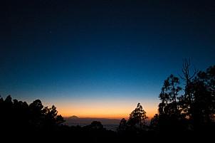 Tamadaba at dusk, looking towards Tenerife