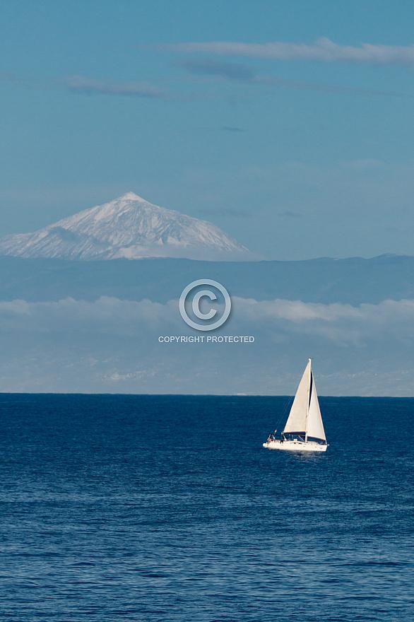 Snowcapped Teide (Tenerife) from Agaete