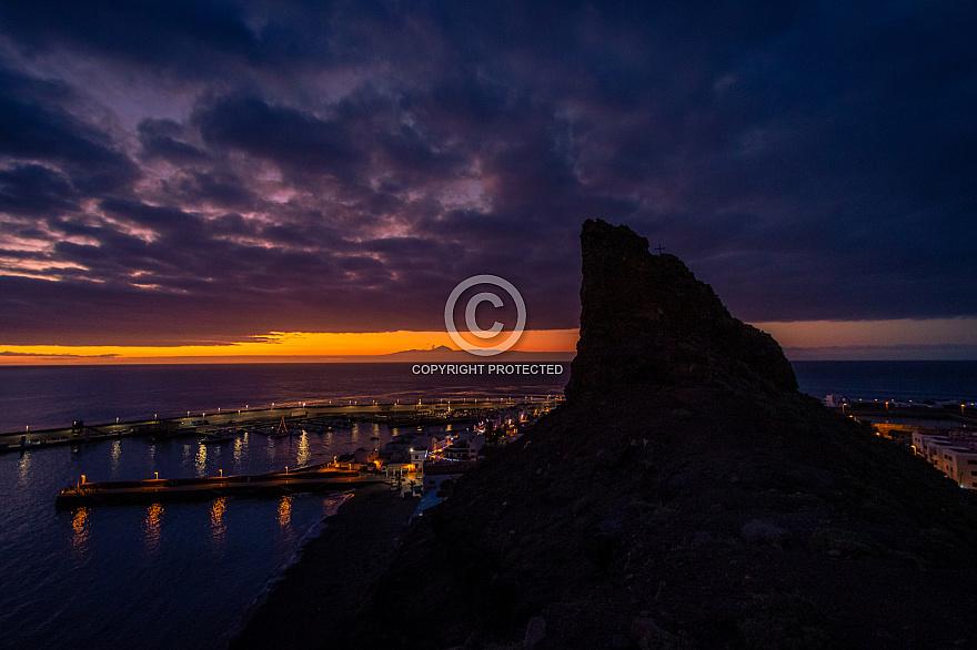 Puerto de las Nieves at sunset