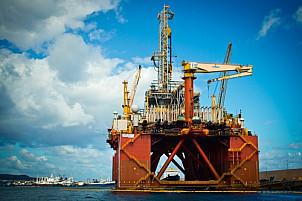 Oil platform in the Puerto de la Luz