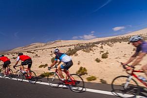 Cyclists in Fuerteventura