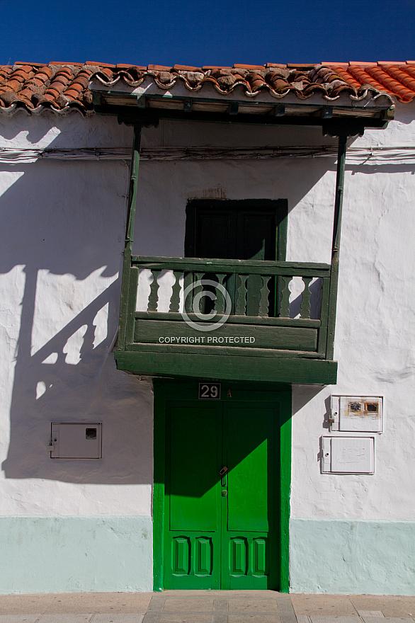 Balcony and small door at a house in La Aldea