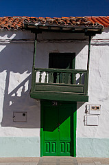 Balcony and small door at a house in La Aldea
