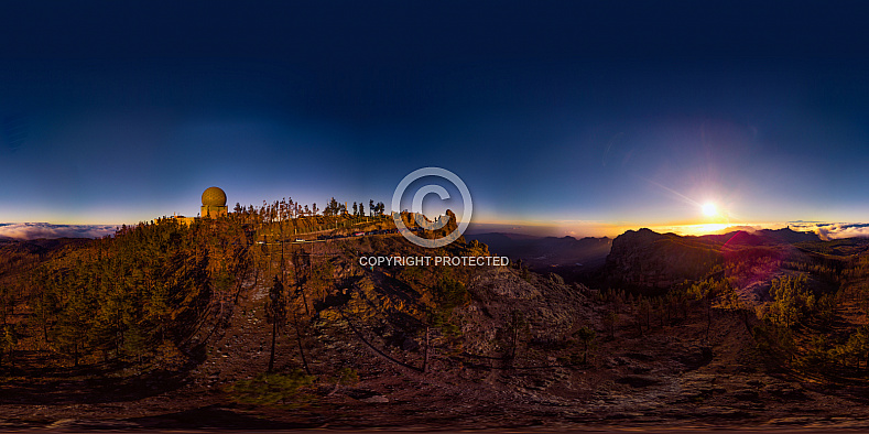 360º Pico de las Nieves at sunset