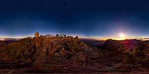 360º Pico de las Nieves at sunset