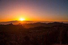 Sunset at the Pico de las Nieves