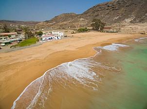 Tauro beach with sand