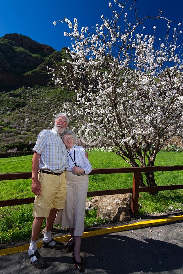 Enjoying almond blossom in Guayadeque