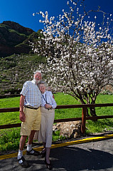 Enjoying almond blossom in Guayadeque