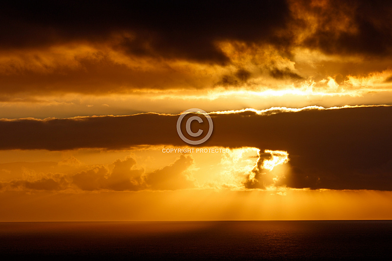 Cloudy sunset at Agaete