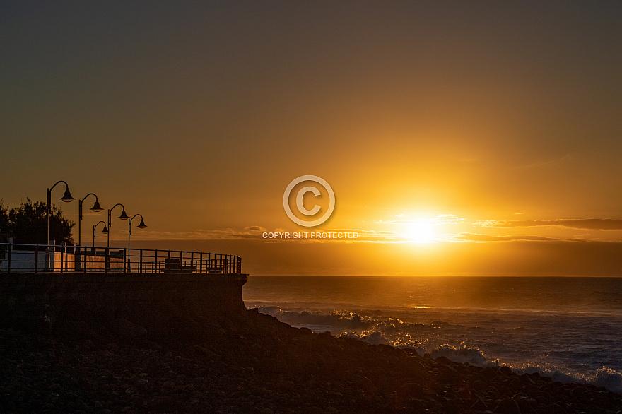Sunset at Las Salinas Agaete