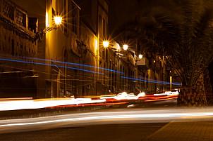 Evening traffic in Agaete