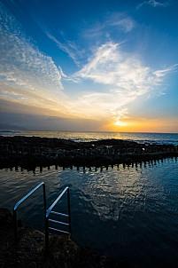 Agaete sunset fisherman